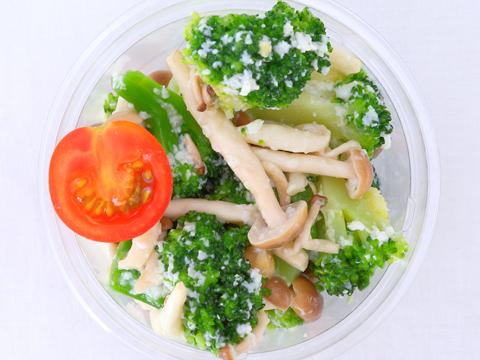ブロッコリーとキノコの塩麹サラダ